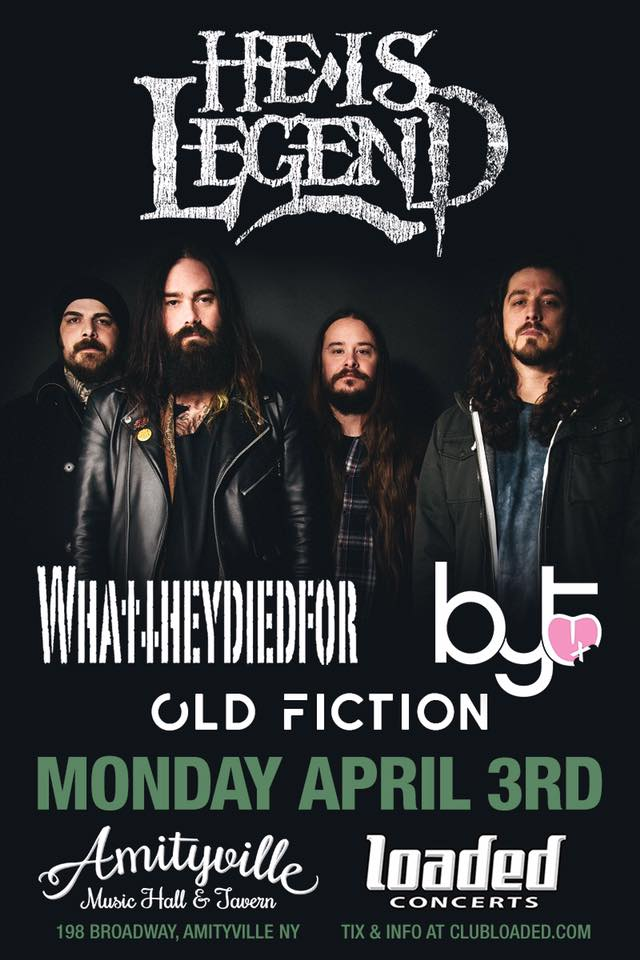 4/3/2017: Live @ Amityville Music Hall - w/He Is Legend